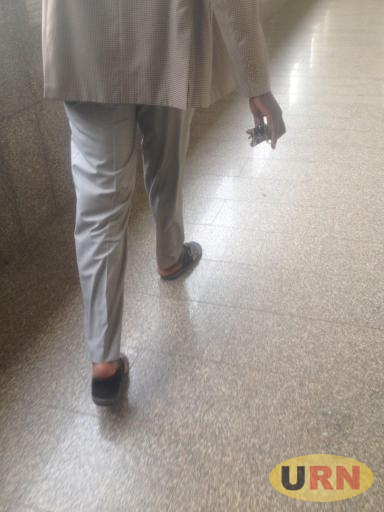 A man walks at the corridors of Parliament on a Thursday afternoon