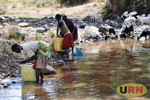 Water points like this are likely to be a source of conflict as Karamoja temperatures rise.