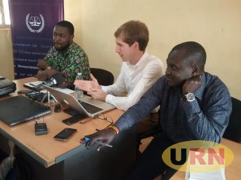 Officials From The Office Of The Prosecutor of The International Criminal court Addressing Media at Northern Uganda Media Club in Gulu on Monday.