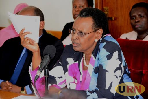 Education Minister Janet Kataaha Museveni appearing before parliament's education committee.