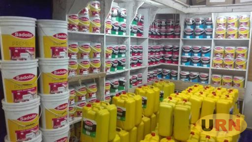 A Sadolin Paint outlet store in down-town Kampala.