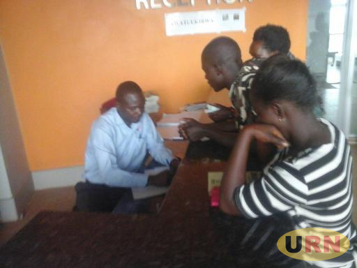 Patients getting medication at Masaka hospital