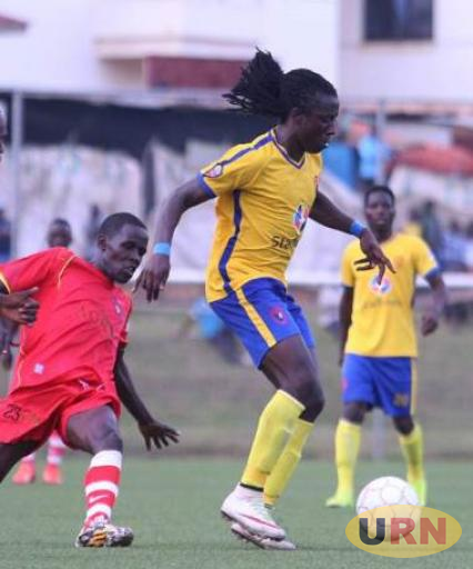 Allan Katerega in action for KCCA FC against Masavu FC.