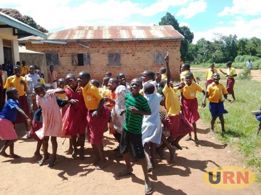 Pupils at Kyambogo Church of Uganda Primary School playing at breaktime. Pupils especially in upper classes will also be sensitised about HIV/AIDS scourge.