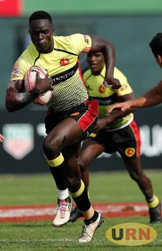 Philip Wokorach in action against Argentina in Dubai last weekend.
