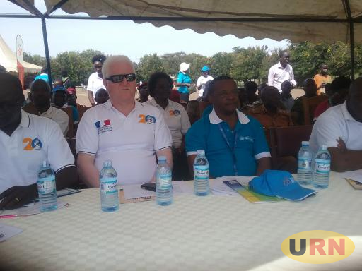 The chairperson board of directors for HURINET and head of cooperation Mr. Darius Tavassoli during the International Human Rights Day in Moroto.