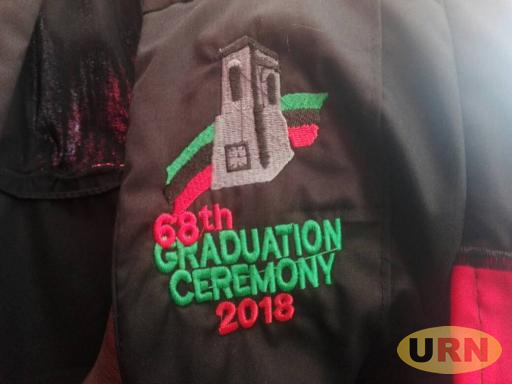A branded 67th academic gown for Makerere University