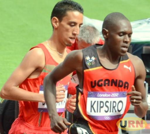Moses Kipsiro during a race in Europe.