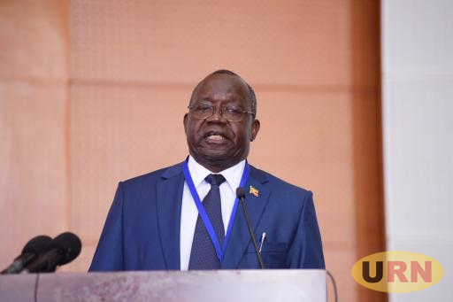 Dan Odong, the UNEB executive Secretary speaking at the release of PLE results for 2017.