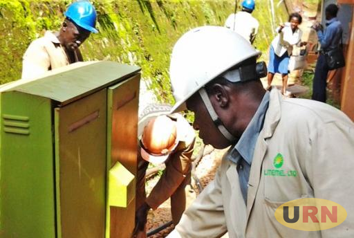 A UMEME staff at work. The company has a twenty year power distribution concession