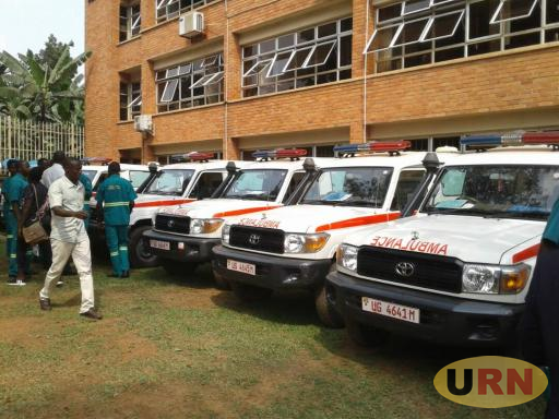 The ambulnaces that were donated by the ministry of health will be used and maintained by KCCA