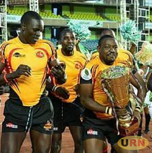 Uganda Rugby Cranes after winning the 2016 Africa 7s title.