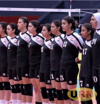 Egypt's U-18 girls Volleyball team.