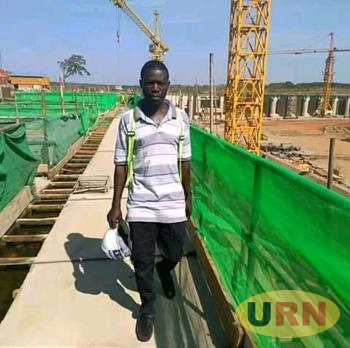 Photograph of the deceased Ronald Kizito a security inspector at Karuma power dam construction who has been shot dead by the stray bullet