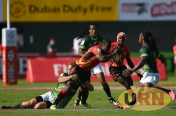 Uganda Rugby Cranes battling in a previous international event.