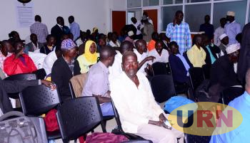 A section of farmers from Butaleja sitting in the Land Probe auditorium. They were together with the Butaleja Woman MP Milly Mugeni.