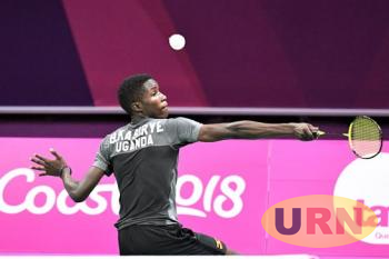 Brian Kasirye during the 2018 Gold Coast Commonwealth Games in Australia.