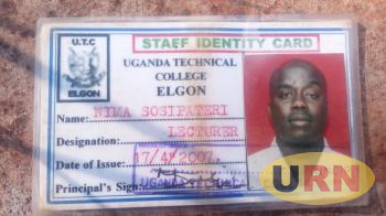 The identity card that was found beside Sosipateri Nima's body