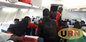 Uganda Cranes team traveling to Lesotho last week on a chartered flight paid for by President Yoweri Kaguta Museveni.