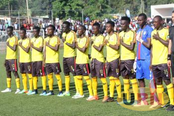 Uganda Kobs team ahead of the game against South Sudan on Wednesday.