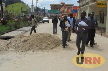 Kabale Municipality leaders inspecting one of the roads