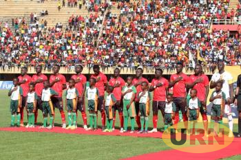 Uganda Cranes team before facing Cape Verde on Saturday.