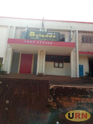 The closed entrance of Buladde FM Masaka, the station was sold off and all staffs laid off.jpg