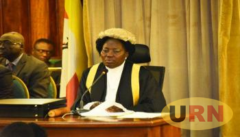 Speaker of Parliament Rebecca Kadaga chairing the afternoon plenary session.